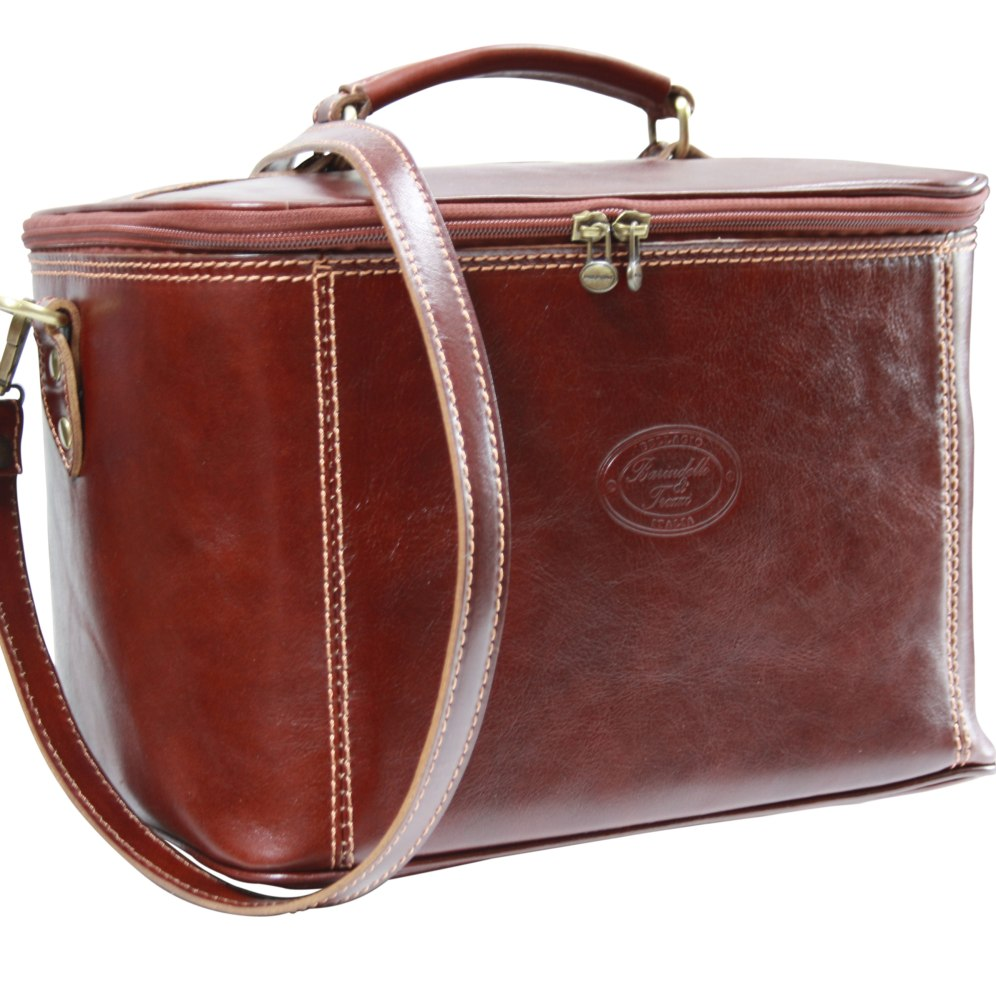 Beauty case pelle