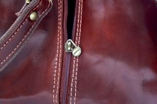 Borsone con zip in ottone